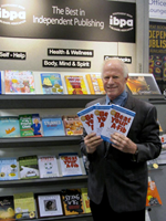 Steve and his book at the American Library Association IBPA exhibit booth, June 2012.