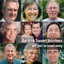 Our A-Fib Support Volunteers are just an email away