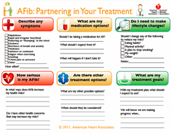 Free downloads: AHA A-Fib pre-visit worksheet
