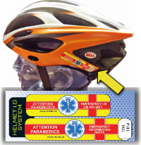 Helmet sticker by Vital ID