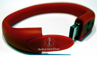 USB bracelet from Medical Alert Drives