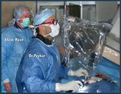 Steve S. Ryan observing ablation by Dr. Sidney Peykar, Cardiac Arrhythmia Institute