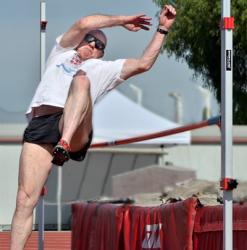 Steve S. Ryan - high jump at track meet