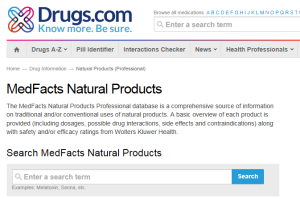 Drugs.com 'MedFacts Natural Products'