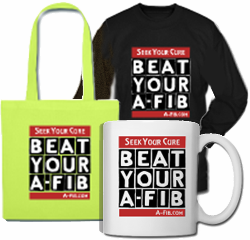 Beat Your A-Fib: Seek Your Cure T-shirt from A-Fib.com shop at spreadshirt.com