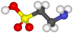 Graphic of Taurine 3D molecule
