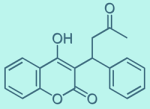 Anticoagulant Warfarin chemical diagram