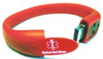 Medical Alert USB Flash Drive Silicone Bracelet