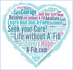 "Click image to enlarge ""Seek your Cure"" graphic at A-Fib.com"