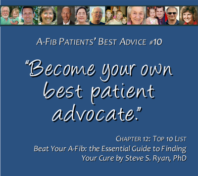Top 10 List #10 Be your own best patient advocate 600 x 530 pix at 300 res