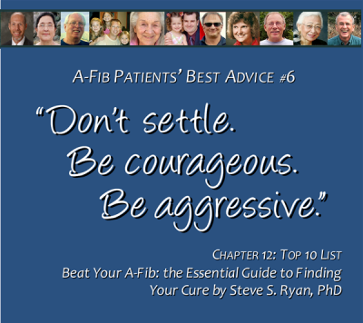 Top 10 List #6 Be courageous. Be aggressive 600 x 530 pix at 300 res