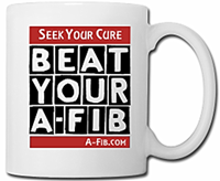 Mug - Seek your cure - Beat Your A-Fib 200 pix wide at 300 res