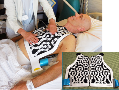 David Neth wearing ECGI vest before ablation by the Bordeaux Groups - A-Fib.com