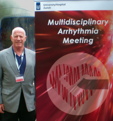 Steve Ryan at the entrance to the MAM 2016 symposium - A-Fib.com