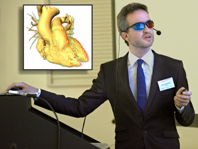 Joris Ector MD, with 3D glasses at MAM 2016 - A-Fib.com