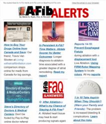 Subscribe Today! Steve's A-Fib Alerts at A-Fib.com