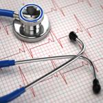 Stethoscope and EKG tracing at A-Fib.com